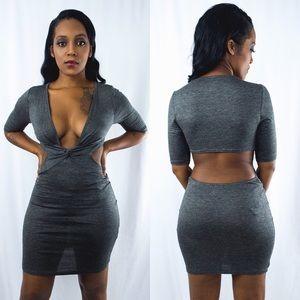 Ashlee Natalia Dresses & Skirts - Knotted Cut Out Dress
