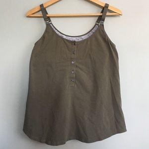 Tops - Like new olive & grey/gray nursing tank