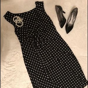 Connected Apparel Dresses & Skirts - Connected Apparel Black Polkadot Dress