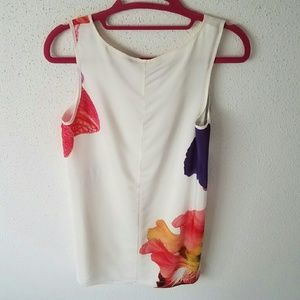 French Connection Dresses - French Connection White Flower Dress