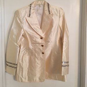 Escada Jackets & Blazers - ESCADA Cream Silk Jacket 36