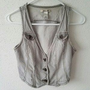 Mango Jeans Gray Vest