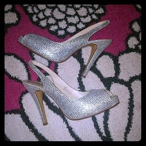 Sparkly Preview International Sling Back Heels