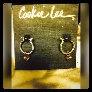 Cookie Lee Jewelry - Cookie Lee  Silver & Gold Hoops