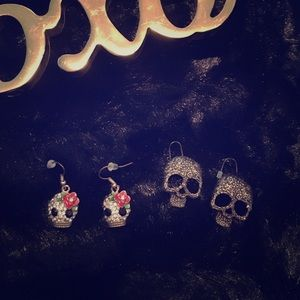 Cute and funky skull earring bundle