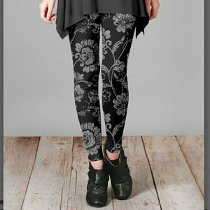 firmiana Pants - LIMITED QUANTITY🔴Black & Gray Silky Leggings