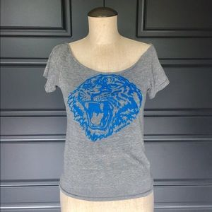 Unbranded Tops - Rawwrrr Awesome Grey Tiger T Shirt Size Small