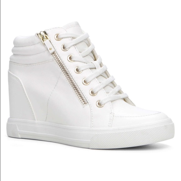 Aldo Shoes | Ottani White Wedge Sneaker Size 9 | Poshmark