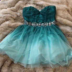 Dresses & Skirts - Faded Turquoise Formal Dress