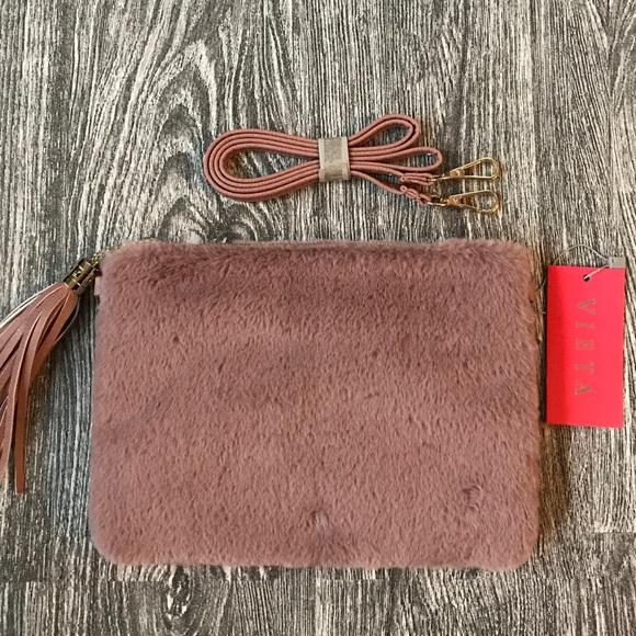 vieta Handbags - Vieta Elvira faux fur clutch purse