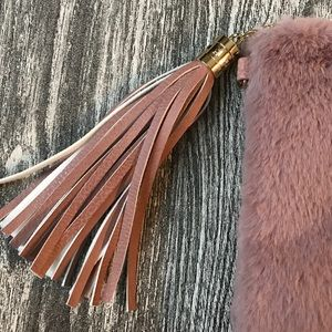 vieta Bags - Vieta Elvira faux fur clutch purse
