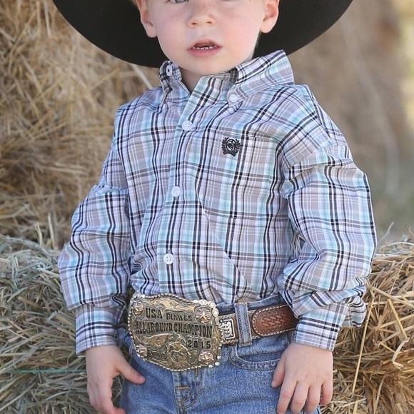 5192778a Cinch Shirts & Tops   Boys Toddler Western Cowboy Shirt   Poshmark