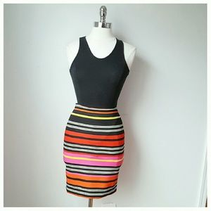 Dresses & Skirts - Fitted Striped skirt & top set