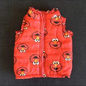 Sesame Street Other - NWOT Sesame Street Hearts Elmo Puffer Vest 12 MO.