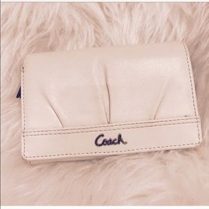 Coach Handbags - COACH Leather White & Cream Wallet