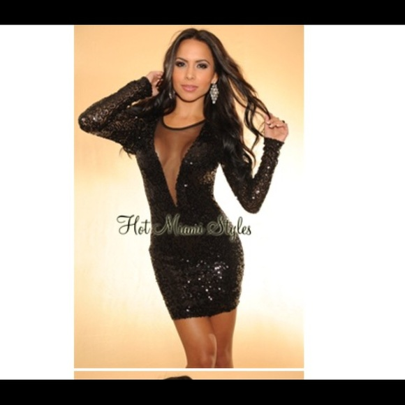 f281aa3d Hot miami styles Dresses | Black Sequins Dress From | Poshmark