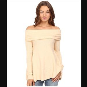 Free People Sweaters - Free People Strawberry Fields Off Shoulder Sweater 2fb769824