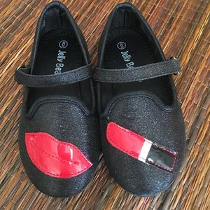 Jelly Beans Other - Kids lipstick and kiss shoes toddler size 8