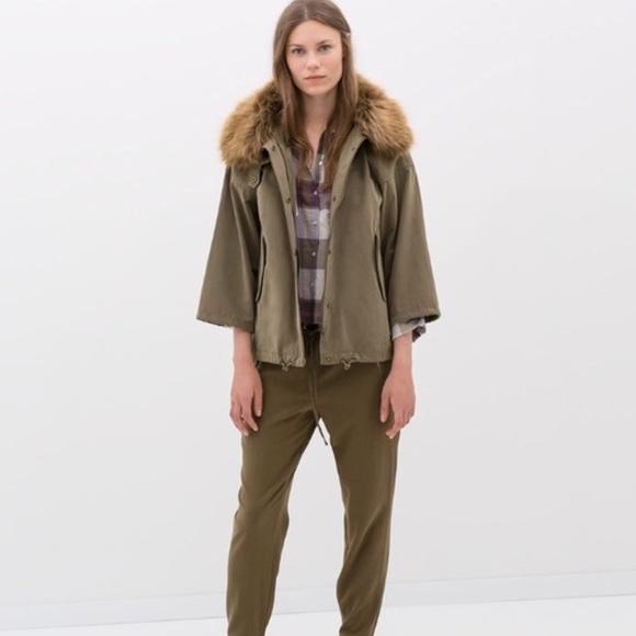 63% off Zara Jackets & Blazers - Zara olive army green parka ...