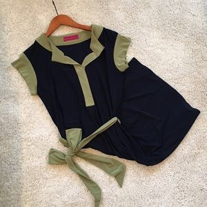 Melissa Masse Dresses & Skirts - Melissa Masse Navy and Green Dress
