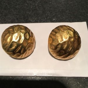 Faux gold post earrings