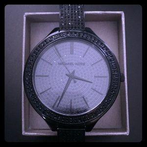 Michael Kors MK3318 Black Crystal Pave Watch