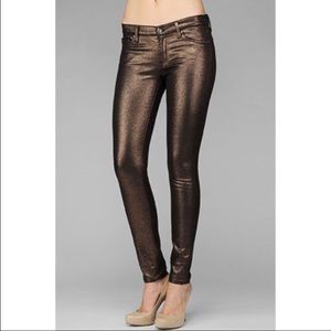 7 For All Mankind Metallic Pants
