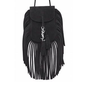 HOLD YSL Saint Laurent suede fringe cross body bag