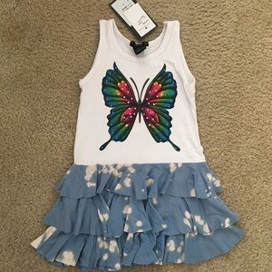 Flowers by Zoe Other - Flowers by Zoe girl dress 2T butterfly rhinestones