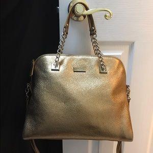 kate spade Handbags - Kate Spade large gold satchel bag, chain handles