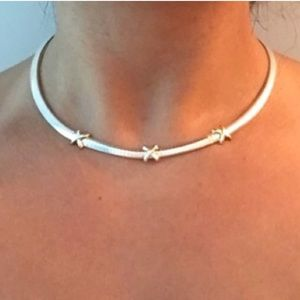 Jewelry - 🎗 .925 & 14k Choker Necklace with 3 X Designs