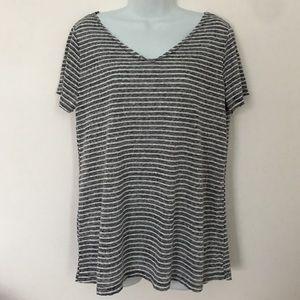Tops - 🍍CLEARANCE🍍 Striped Burnout Frayed Hem T-Shirt