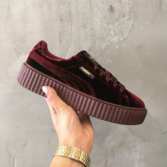 the latest 0042b ec716 Fenty x Puma Creepers Red Velvet NWT
