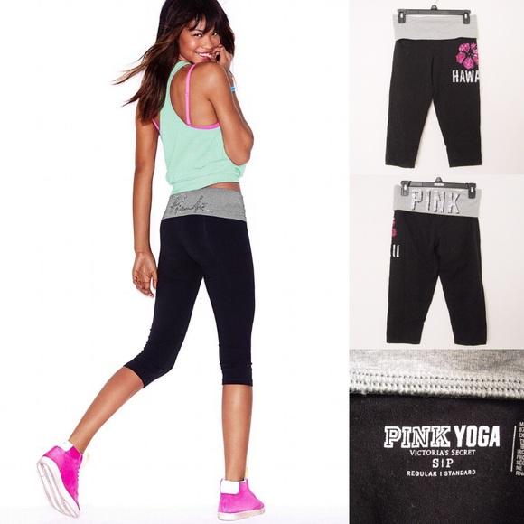684d0aa23a87c VS Pink Yoga Hawaii Crop Leggings