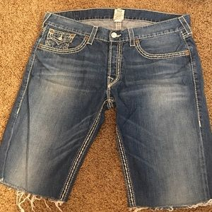 True Religion Other - Men's True Religion Slim Cutoff Denim Shorts 38