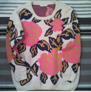 Sweaters - *LAST CHANCE* Vintage Floral 3/4 Sleeve Sweater