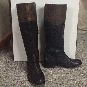 SALELUICHINY Black Leather Boots