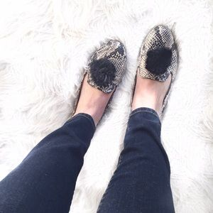 ASOS Shoes - Python PomPom Loafers