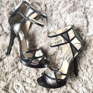 ✨HOST PICK✨Michael Kors Black/Silver Heels