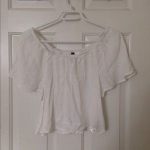 H&M off the shoulder white blouse
