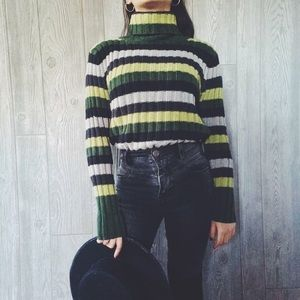 PRICE DROP  Crocodile Striped Sweater
