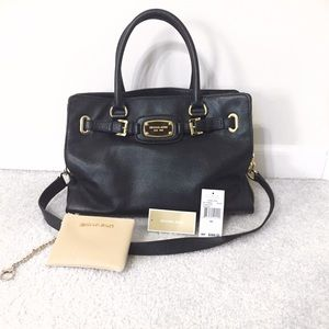 Michael Kors Handbags - Michael Kors black Hamilton & pouch bundle