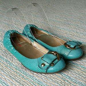 Marc Joseph Shoes - Marc Joseph Rockaway Turquoise Snake Leather 7.5