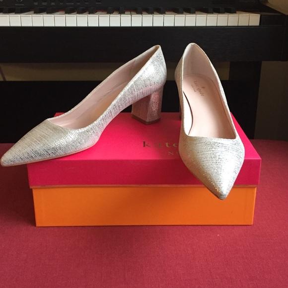 6ef2b2882a47 kate spade Shoes - Kate Spade Milan Pump Old Gold Metallic Size 8