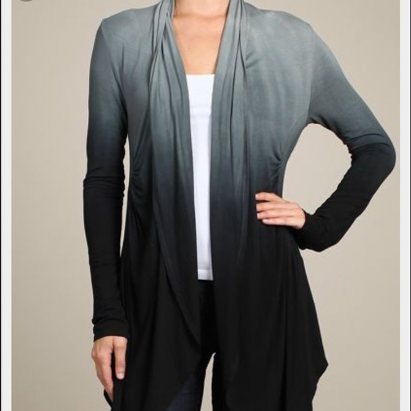 60% off Gypsy 05 Sweaters - Gypsy black/grey ombré duster sweater ...
