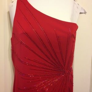 Dresses & Skirts - Elegant red gown with beading