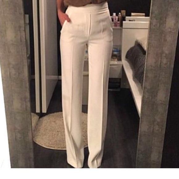 b858736c Zara Pants   Straight Flowing Trousers In Ecru Ivory Nwt   Poshmark
