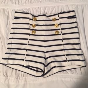 Forever 21 Pants - Forever 21 High Waisted Nautical Shorts
