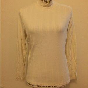 St. John's Bay Sweaters - Off white long sleeve half turtleneck