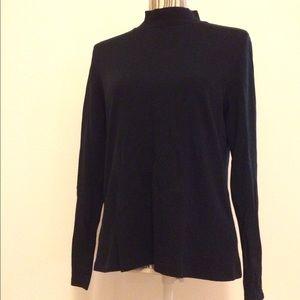 St. John's Bay Sweaters - Black long sleeve turtleneck